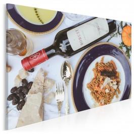 Wytworna kolacja - fotoobraz do kuchni - 120x80 cm
