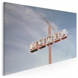 Przydrożny motel - zdjęcie na płótnie