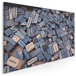 Potok słów - nowoczesny obraz na płótnie - 120x80 cm