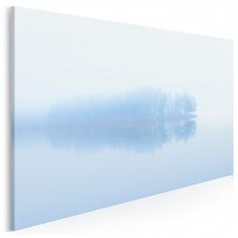 Delikatność błękitu - nowoczesny obraz na płótnie - 120x80 cm