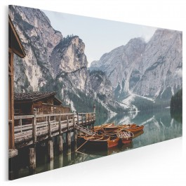 Górska przystań - fotoobraz na płótnie - 120x80 cm