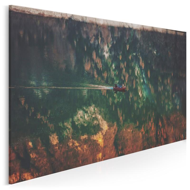 Rybacka łódź - nowoczesny obraz na płótnie - 120x80 cm