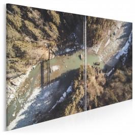 Most na rzece - zdjęcie na płótnie