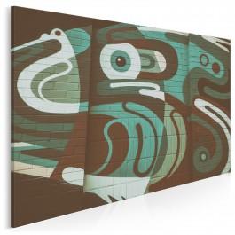 Żuraw i czapla - fotoobraz na płótnie - 120x80 cm