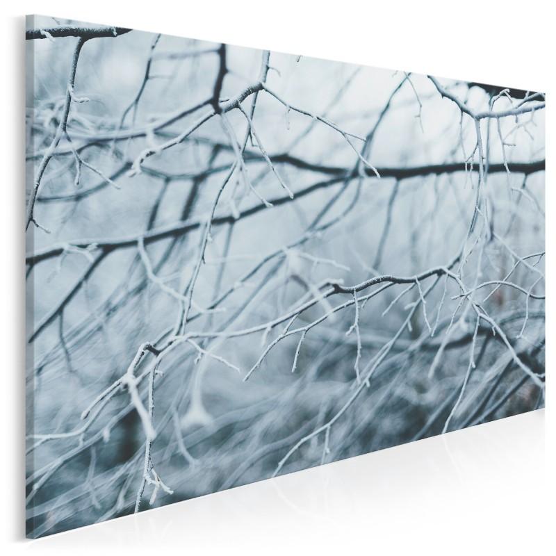 Zimowa aura - nowoczesny obraz na płótnie - 120x80 cm