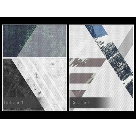 Spokój gór - nowoczesny obraz na płótnie - 120x80 cm