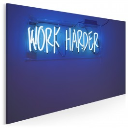 Work harder - fotoobraz do salonu - 120x80 cm