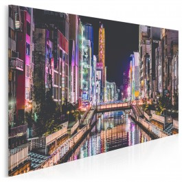 Osaka nocą - nowoczesny obraz na płótnie - 120x80 cm