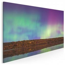 Aurora borealis - fotoobraz do sypialni - 120x80 cm