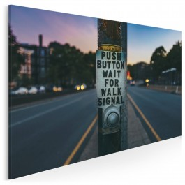 Wait for walk signal - fotoobraz do salonu - 120x80 cm