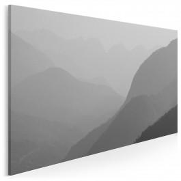W mglistej dolinie - fotoobraz na płótnie - 120x80 cm
