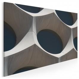 Architektura organiczna - nowoczesny obraz na płótnie - 120x80 cm