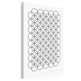 Minimalistyczne kręgi - nowoczesny obraz na płótnie - 50x70 cm