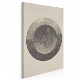 Abstrakcyjny krąg życia - nowoczesny obraz na płótnie - 50x70 cm