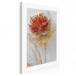 Brązy i czerwienie - nowoczesny obraz na płótnie - 50x70 cm