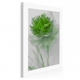 Emeraldowy kwiat - nowoczesny obraz do salonu