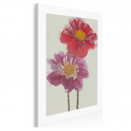 Letnia kompozycja kwiatowa - nowoczesny obraz na płótnie - 50x70 cm