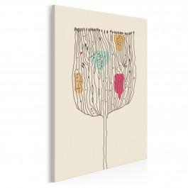Abstrakcyjny kwiat - nowoczesny obraz na płótnie - 50x70 cm