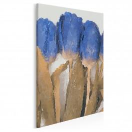 Niebiańskie tulipany - nowoczesny obraz na płótnie - 50x70 cm