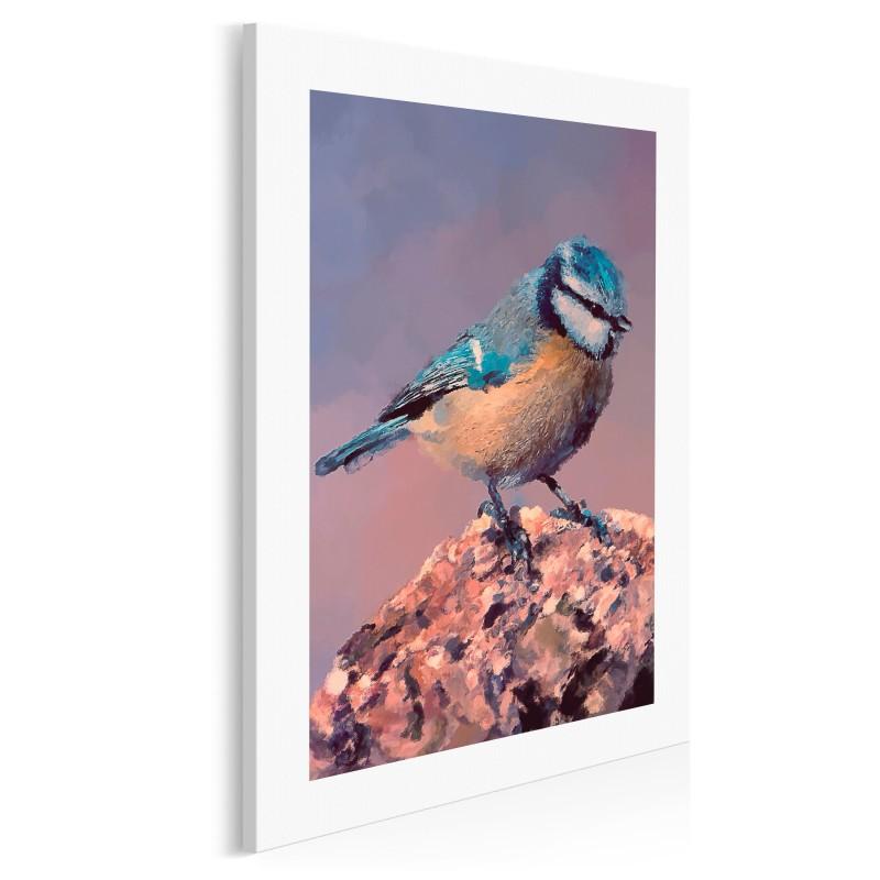 Piękna modraszka - nowoczesny obraz na płótnie