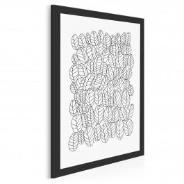Graficzne liście - nowoczesny obraz na płótnie - 50x70 cm