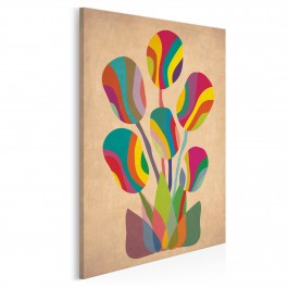 Abstrakcyjny bukiet kolorów - nowoczesny obraz na płótnie - 50x70 cm