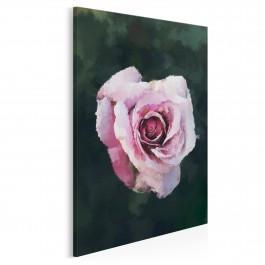 Kwiat róży - nowoczesny obraz do salonu - 50x70 cm