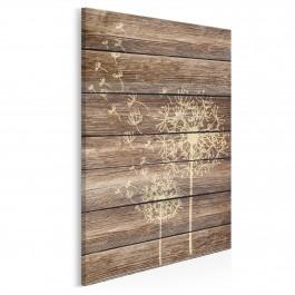 Dmuchawiec na drewnie - nowoczesny obraz na płótnie - 50x70 cm