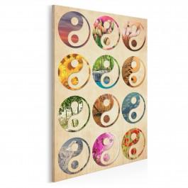 Yin Yang - nowoczesny obraz na płótnie - 50x70 cm