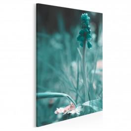 Świat turkusem malowany - nowoczesny obraz na płótnie - 50x70 cm