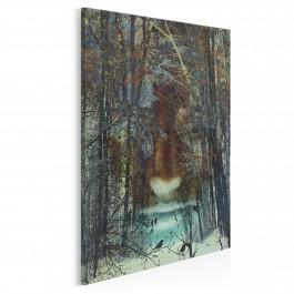 Mroczny las - nowoczesny obraz na płótnie