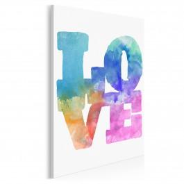 Akwarelowa miłość - nowoczesny obraz na płótnie - 50x70 cm