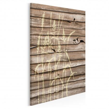 Łąka w stylu vintage - nowoczesny obraz na płótnie - 50x70 cm