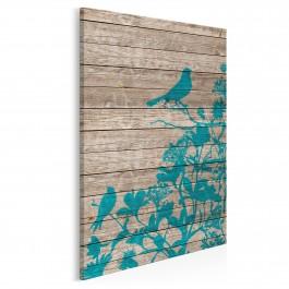 Ptaki w stylu vintage - nowoczesny obraz na płótnie - 50x70 cm