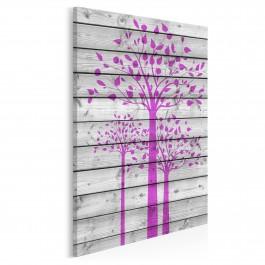Drzewo w stylu vintage - nowoczesny obraz na płótnie - 50x70 cm