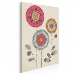 Kwieciste piękności - nowoczesny obraz na płótnie - 50x70 cm