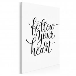 Follow your heart - nowoczesny obraz do sypialni - 50x70 cm