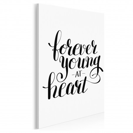Forever young at heart - nowoczesny obraz na płótnie - 50x70 cm