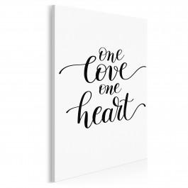 One love one heart - nowoczesny obraz do sypialni - 50x70 cm