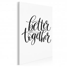 Better together - nowoczesny obraz na płótnie - 50x70 cm