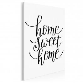 Home sweet home - nowoczesny obraz na płótnie - 50x70 cm
