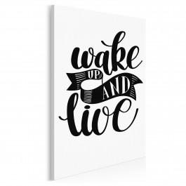 Wake up and live - nowoczesny obraz do sypialni