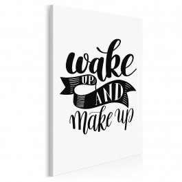 Wake up and make up - nowoczesny obraz do sypialni - 50x70 cm