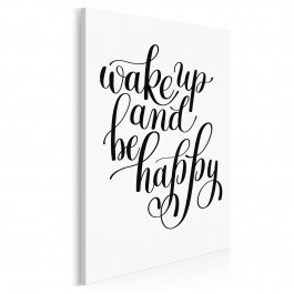 Wake up and be happy - nowoczesny obraz do sypialni - 50x70 cm