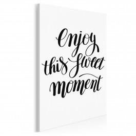 Enjoy this sweet moment - nowoczesny obraz na płótnie - 50x70 cm