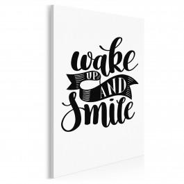 Wake up and smile - nowoczesny obraz do sypialni