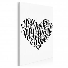 You make my heart smile - nowoczesny obraz na płótnie - 50x70 cm