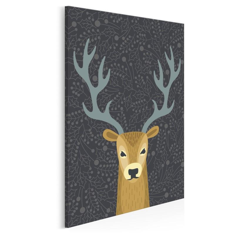 Renifer Daniel - nowoczesny obraz na płótnie - 50x70 cm