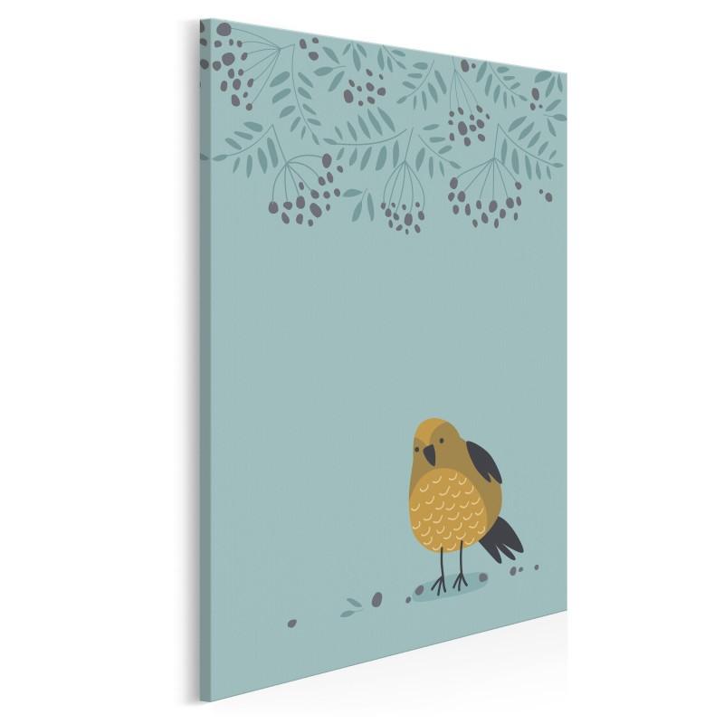 Ptaszek Wacław - nowoczesny obraz na płótnie - 50x70 cm