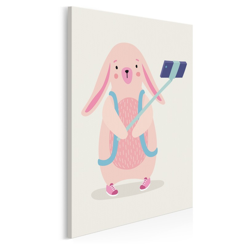 Obozowiczka Kasia - nowoczesny obraz na płótnie - 50x70 cm